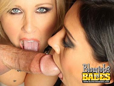 Julia Ann and Raylene Blowjob Duo